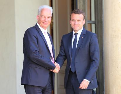 Entretien du président Alain Griset avec le Président de la République Emmanuel Macron