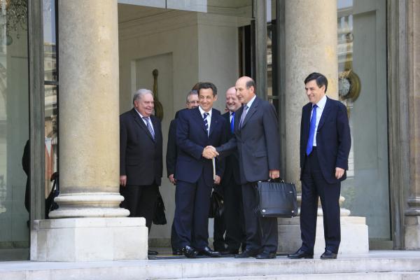 Photos de la rencontre à l'Élysée